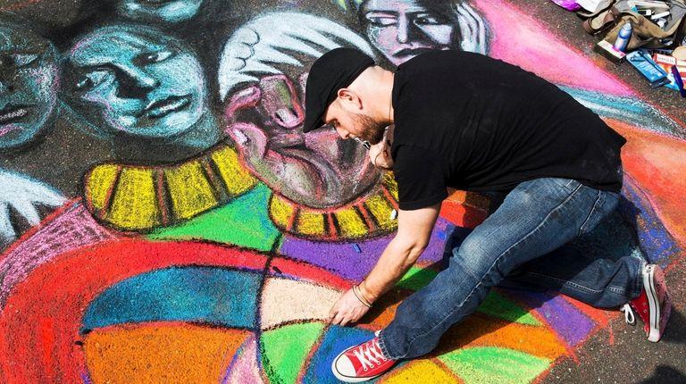 Bryan Landsberg of Astoria, Queens, creates an original