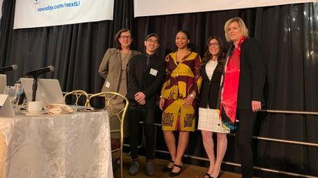 From left, Rita Ciolli, Kai Teoh, Coralie Saint-Louis,