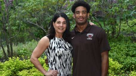 Trevor Yeboah-Kodie, Garden City senior, and mother Leslie