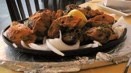 Chooza kebab, tender chunks of dark-meat chicken, was