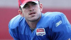 Matt Dodge at the Giants training camp. (Aug.