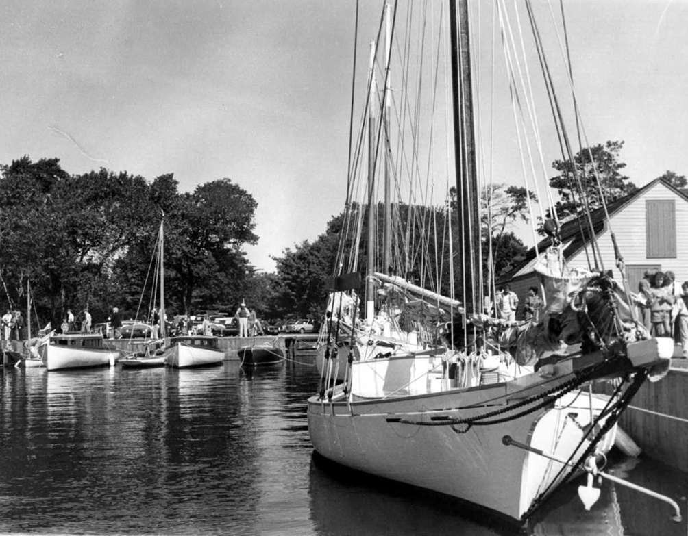 The Modesty oyster sloop, pictured here in 1985