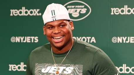 Jets rookie nose tackle Quinnen Williams at the