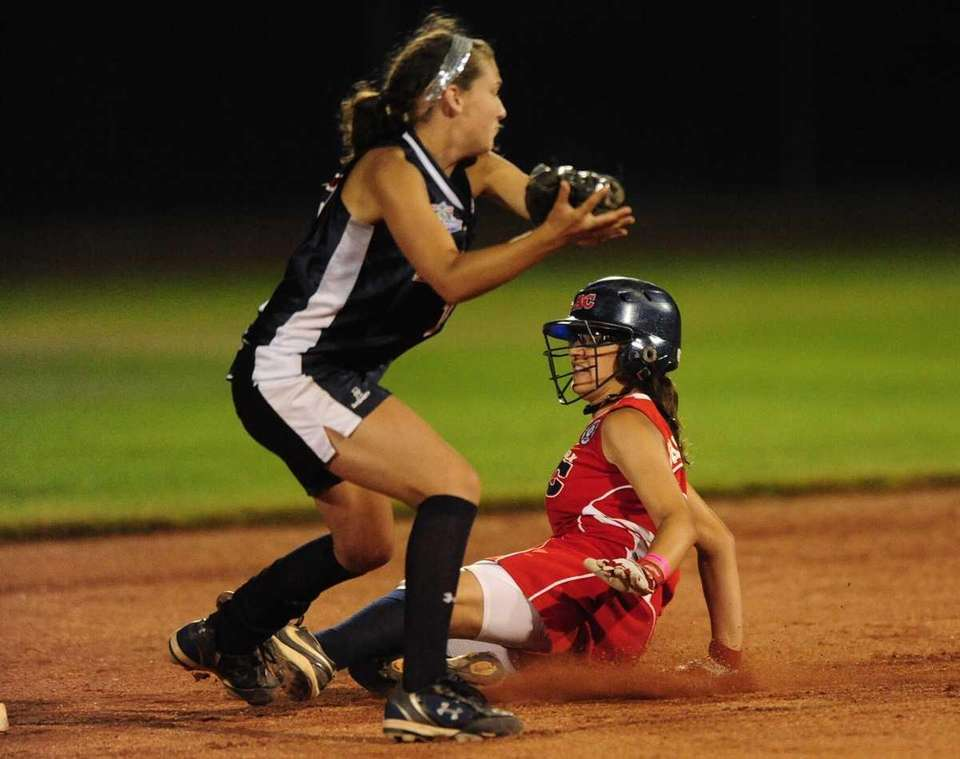 Levittown ToniAnn Pasqueralle slides safely into second in