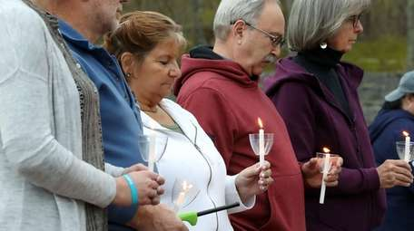 Residents gather on Saturday at the Southampton Addiction