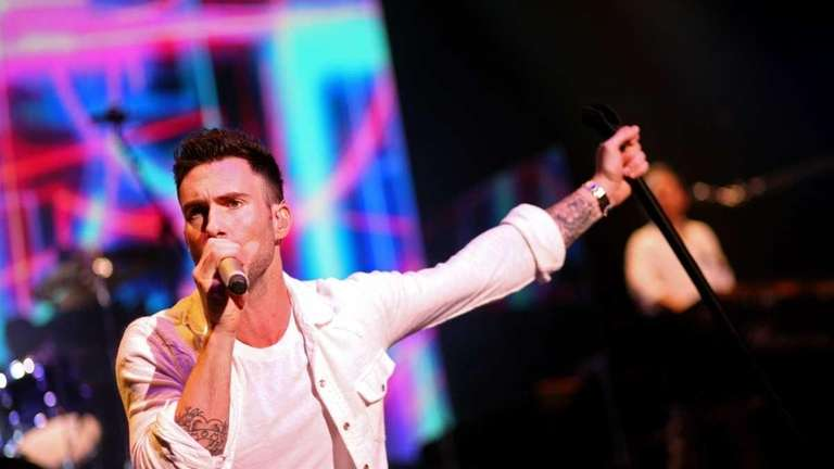 Adam Levine of Maroon 5 performs at the