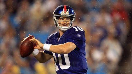 Eli Manning #10 of the New York Giants
