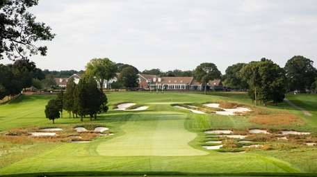 A view from the tee of the 18th