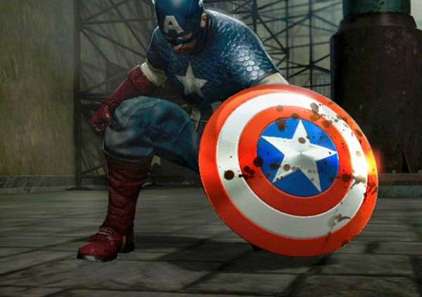Screengrab from video game: quot; Captain America: Super