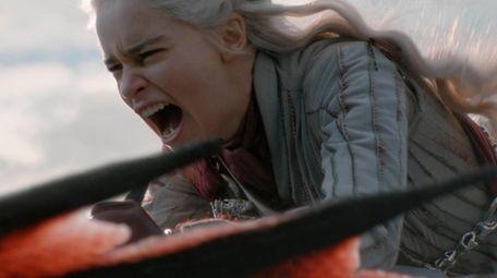 Emilia Clarke as the character Daenerys Targaryen on