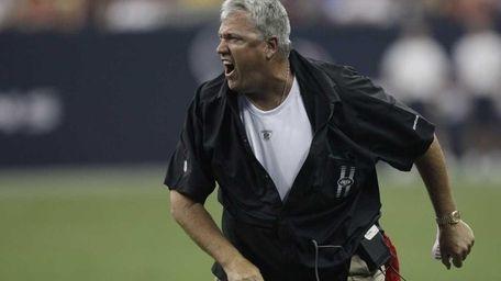 New York Jets coach Rex Ryan yells during