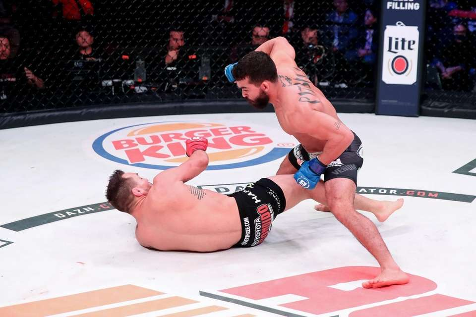 """Patricio """"Pitbull"""" Freire knocked out Michael Chandler in"""