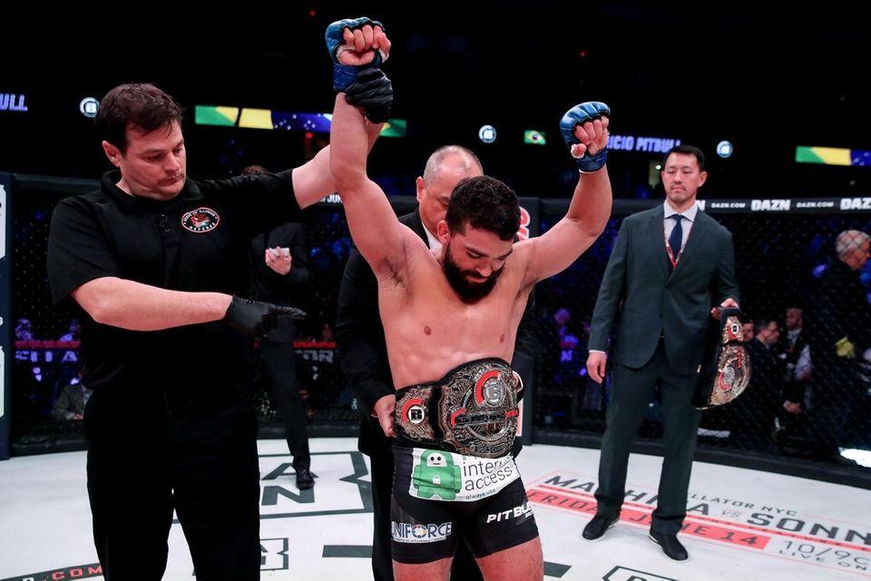 """Patricio """"Pitbull"""" Freire celebrates his win over Michael"""