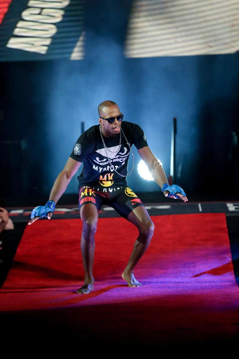 """Michael """"Venom"""" Page walks to the cage to"""