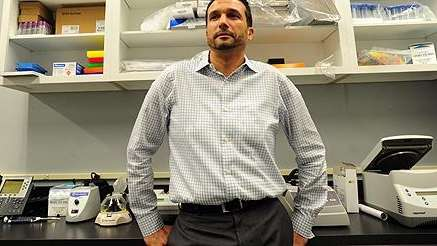 Hassan Bennani of KellBenx in the company's lab