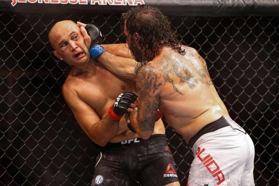Clay Guida in action with BJ Penn in