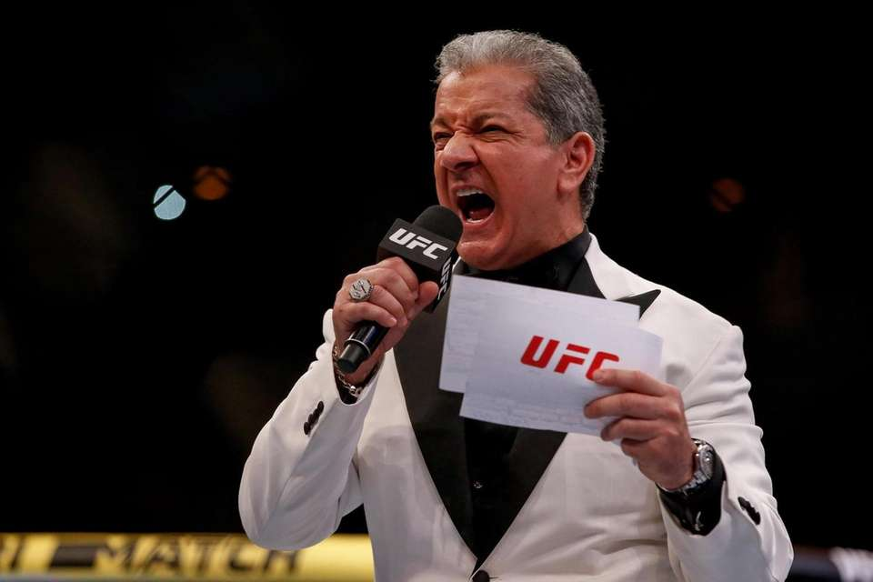 Bruce Buffer introduces the fighters prior to the