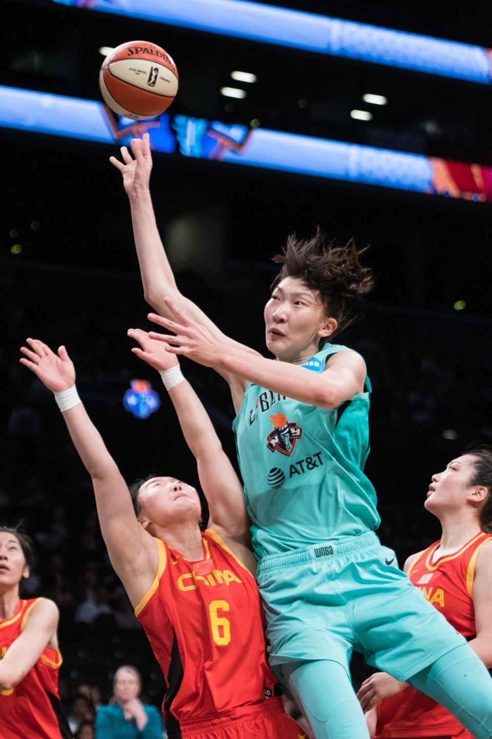 China National Team guard Wu Tongtong (#6) defends