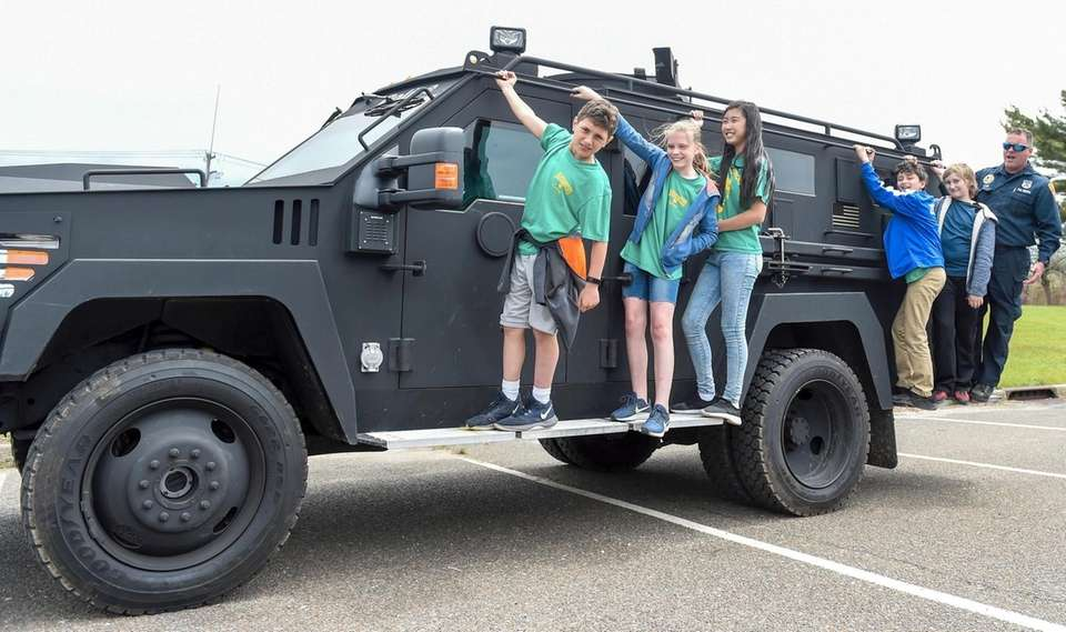 During Police Week, Nassakeag Elementary School students from