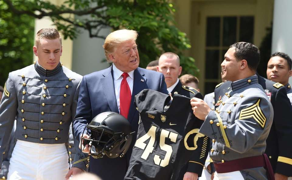 The Army West Point football team was honored