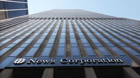 The News Corp. headquarters in Manhattan.