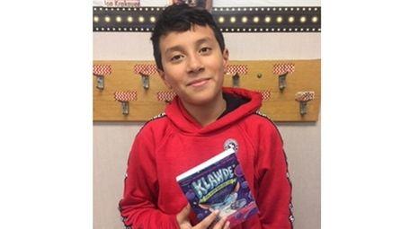 Kidsday reporter Andrew Madrid, of Walnut Street School,