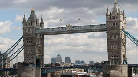 The Tower Bridge in London, England. Completed in
