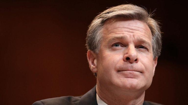 FBI Director Christopher Wray testifies before the Senate