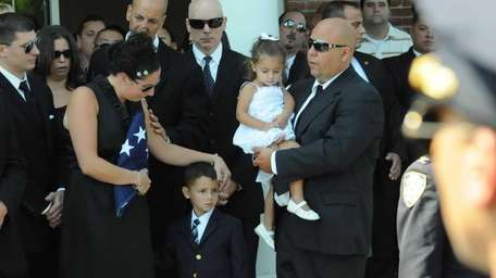 Stephanie Luca, wife of NYPD officer Patrick Luca,
