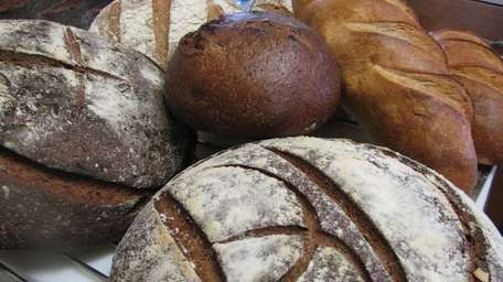 Some of the loaves at Blue Duck Bakery