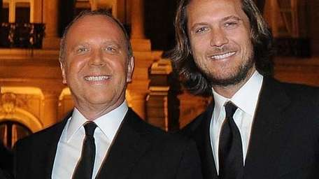 Michael Kors and Lance LePere attend a cocktail
