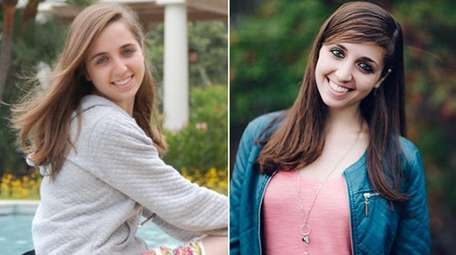Lauren DeMaria, left, in 2009, and right, in