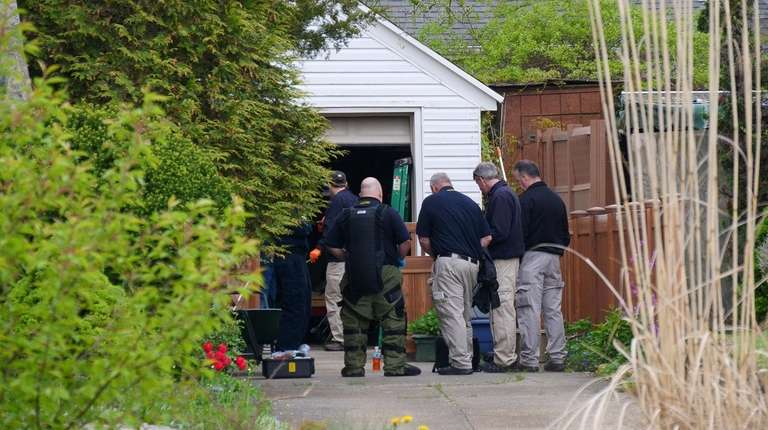 Scene of the suspected meth lab in a