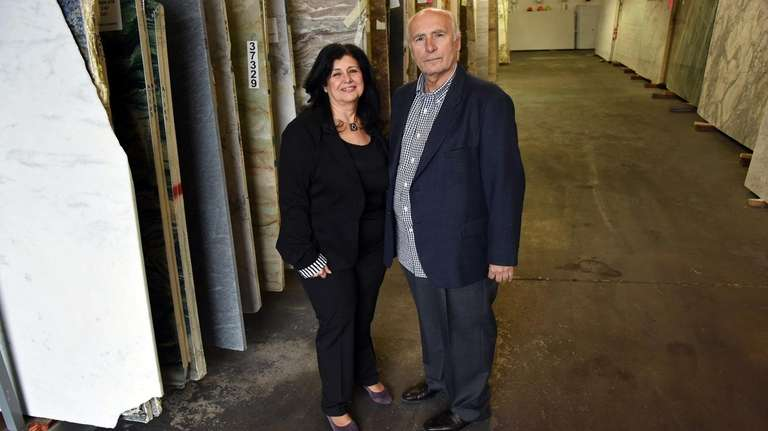 Clio and Ioannis Doukakis, owners of Global Stone
