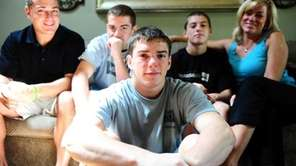 Hauppauge High wrestler Nick Mauriello photographed at his