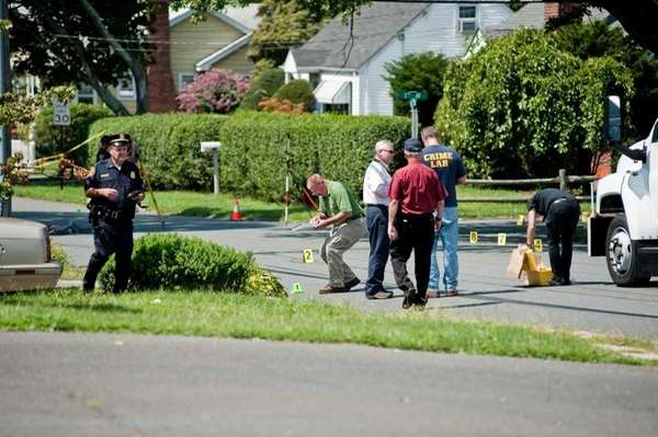 The SCPD homicide unit investigating after Second Precinct