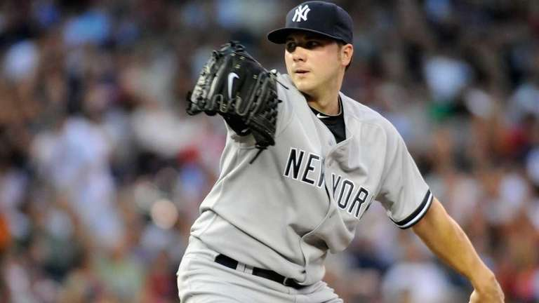 Aaron Laffey #39 of the New York Yankees