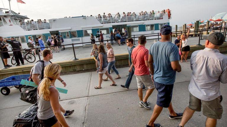 The ferry dock in Ocean Beach on Fire
