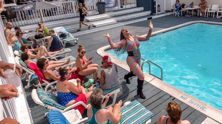 Guests get a poolside drag show at the