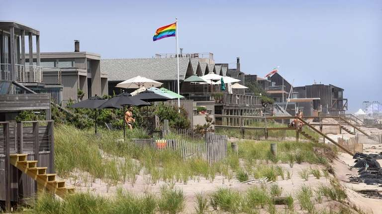 Houses line the beach at The Fire Island