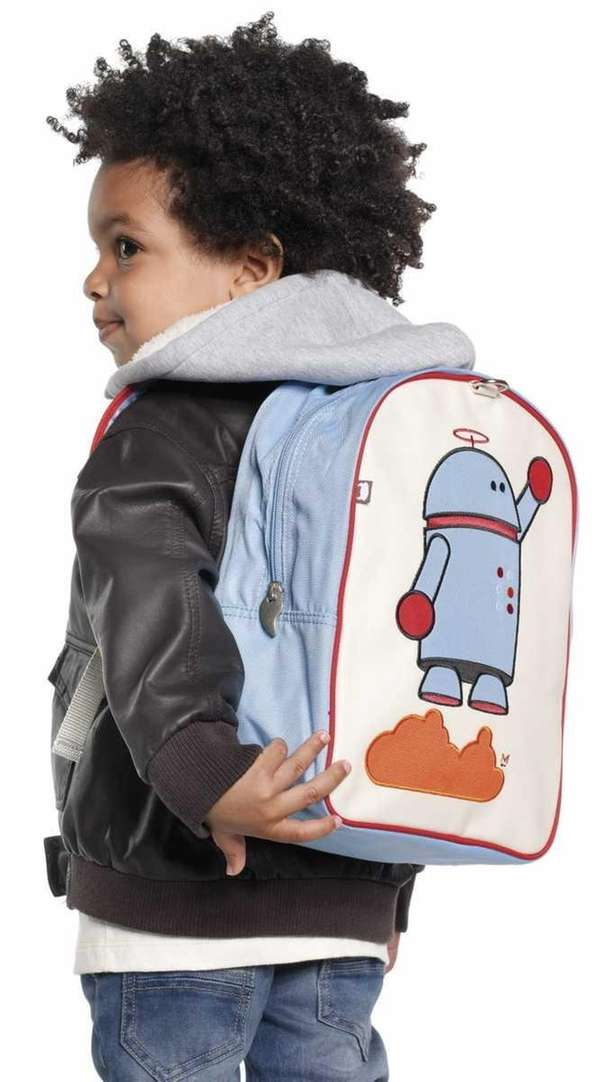 Quirky little robot backpack by Beatrix Little, $42
