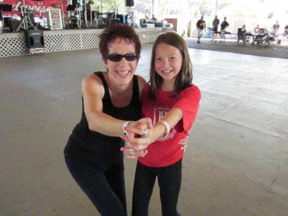 Farmingville's Kim Rubinstein and daughter Lindsay, 10, enjoy