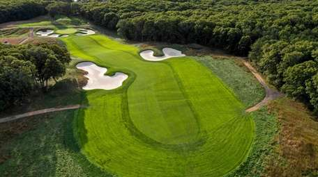 An aerial view of hole No. 6 at