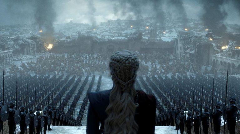 Emilia Clarke as Daenerys Targaryen in a