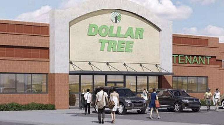 An artist rendering of the Dollar Tree store
