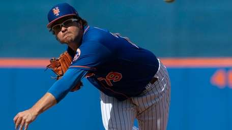 Mets pitcher Anthony Kay during a spring training