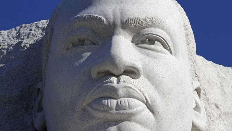 The statue of the Rev. Martin Luther King,