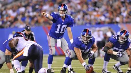 Eli Manning of the New York Giants points