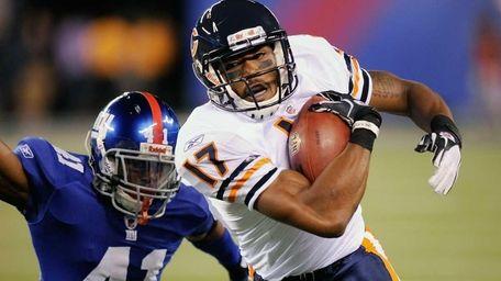 Onrea Jones #17 of the Chicago Bears breaks
