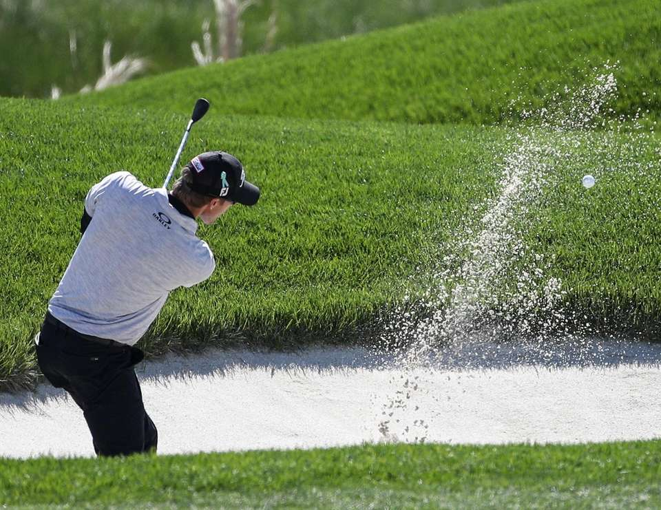 Richy Werenski hits out of a bunker on